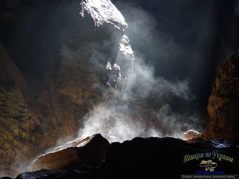 Пар в в пещере Большой Бузлук