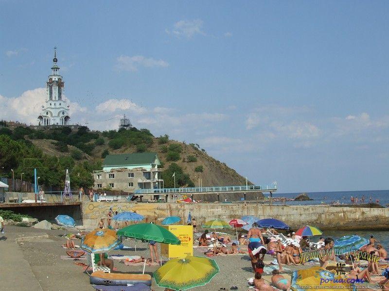 На пляже в Малореченском
