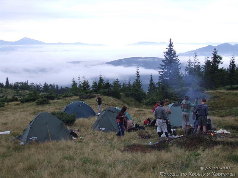 Лагерь выше облаков
