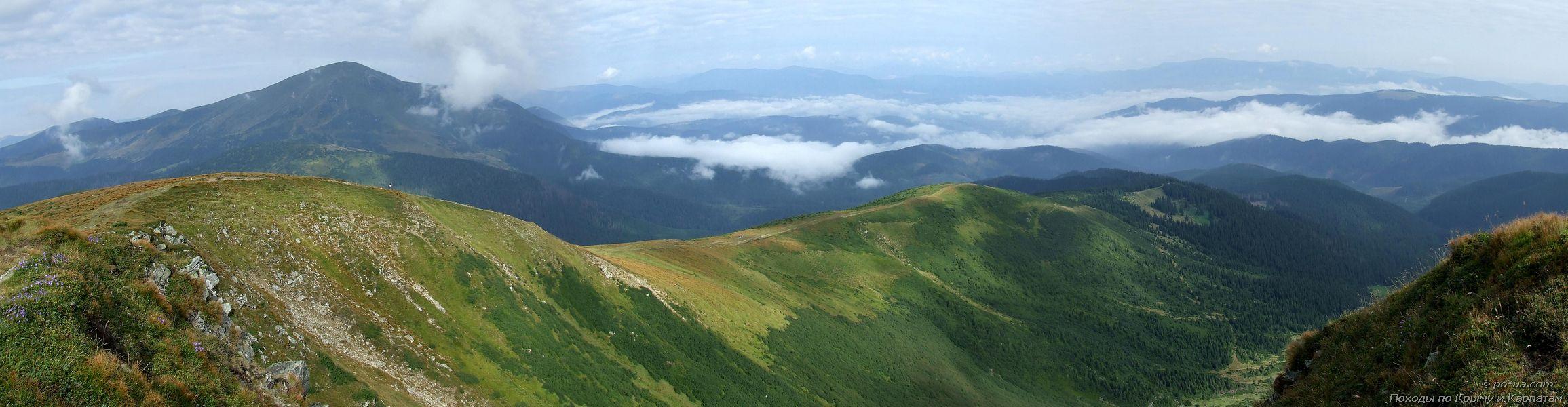 Панорама с Черногорского хребта