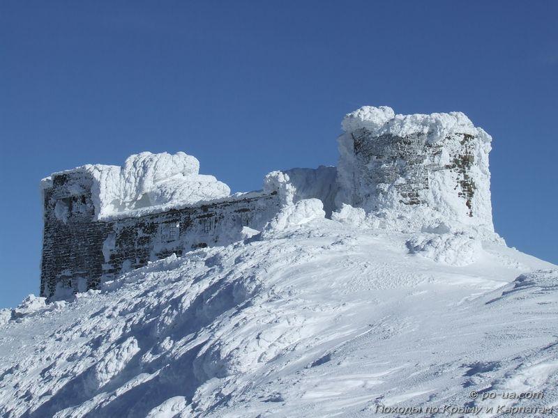 Черногорская обсерватория зимой