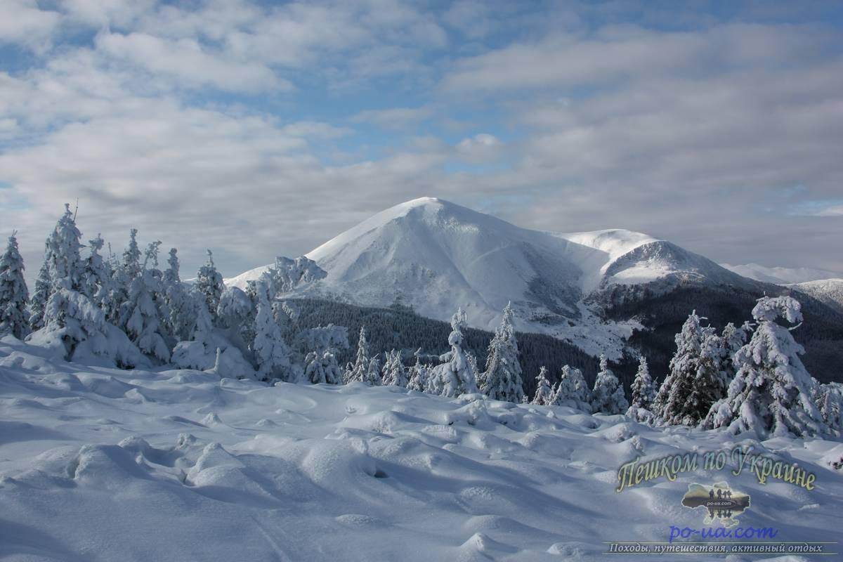 Зима в Карпатских горах
