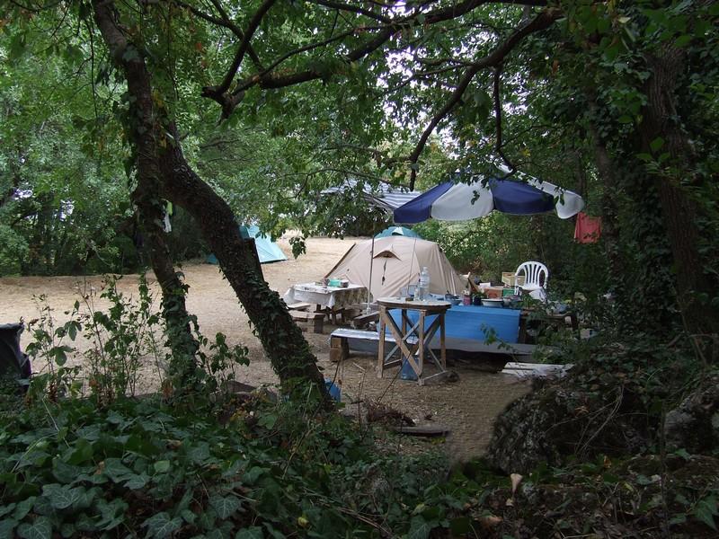 Туристический палаточный лагерь в Крыму
