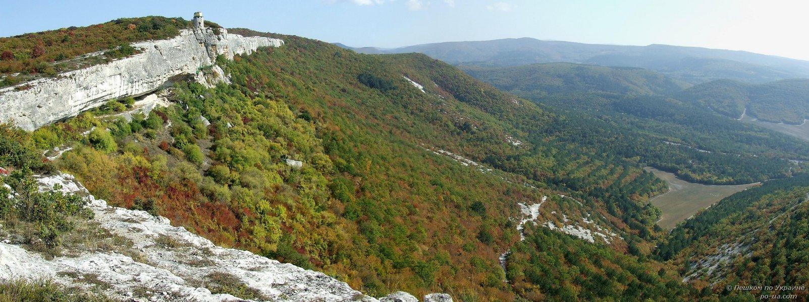 Панорама с плато. Монастырь Шулдан