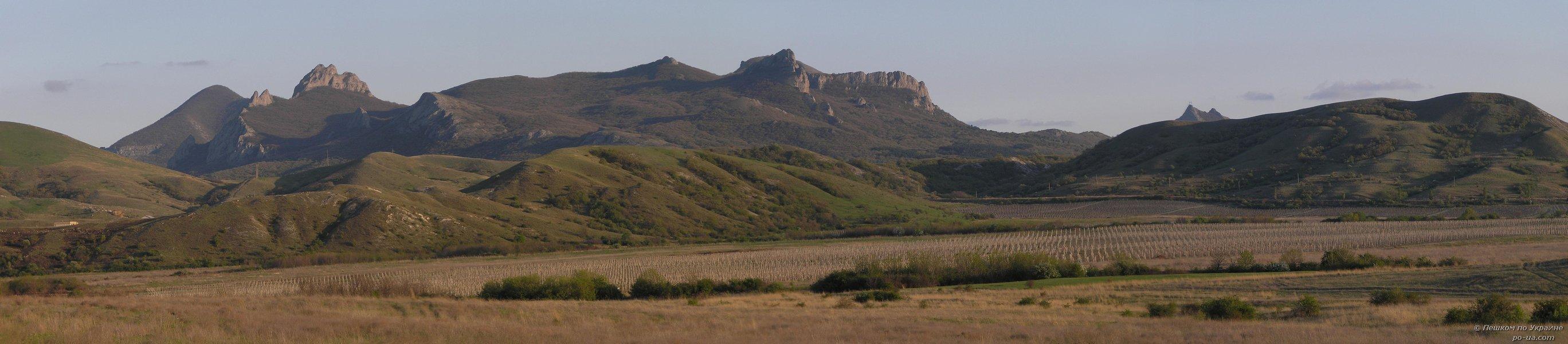 Панорама потухшего вулкана Карадаг
