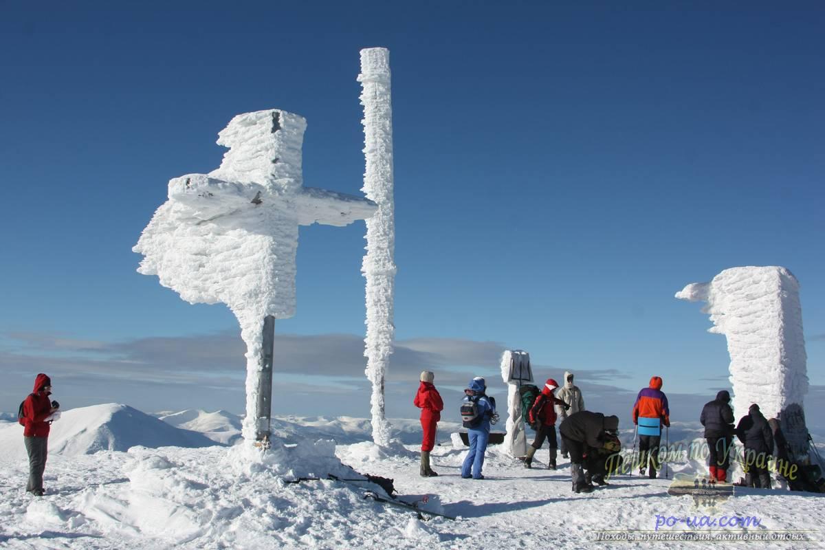 На Говерле зимой, активный тур на Рождество