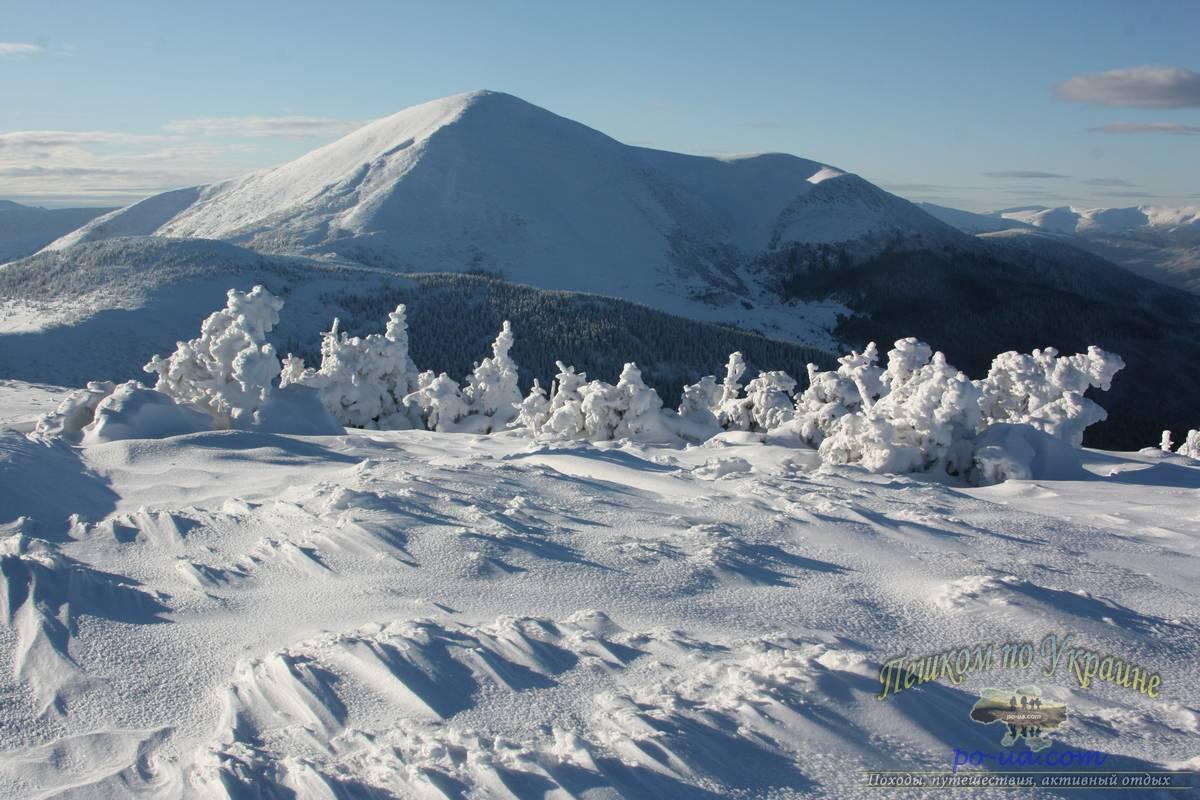Зимой в горах Карпат