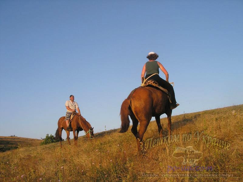 На лошадях в Крыму