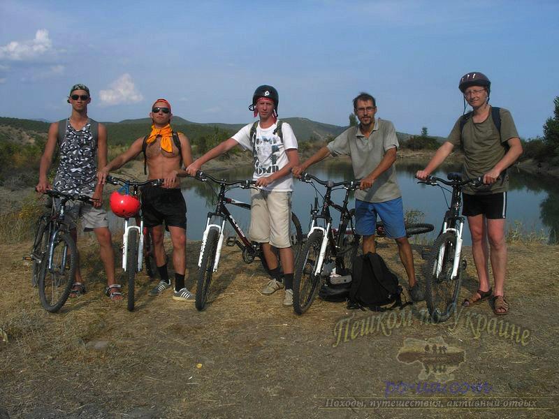На велосипедах в Крыму
