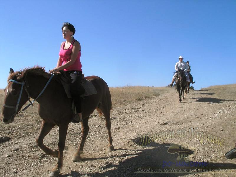 Активный отдых в Крыму - Катание на лошадях
