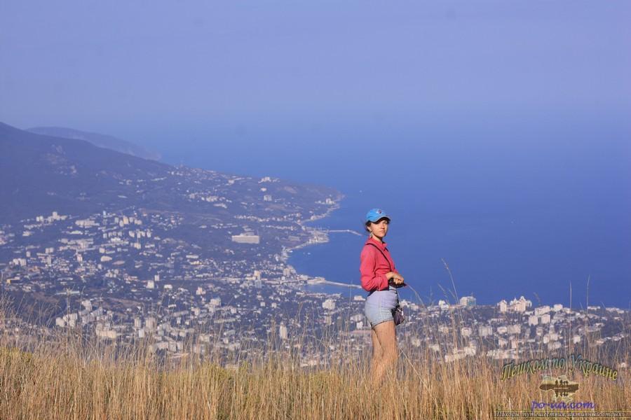 Вид с горы Ай-Петри, дикий отдых в Крыму