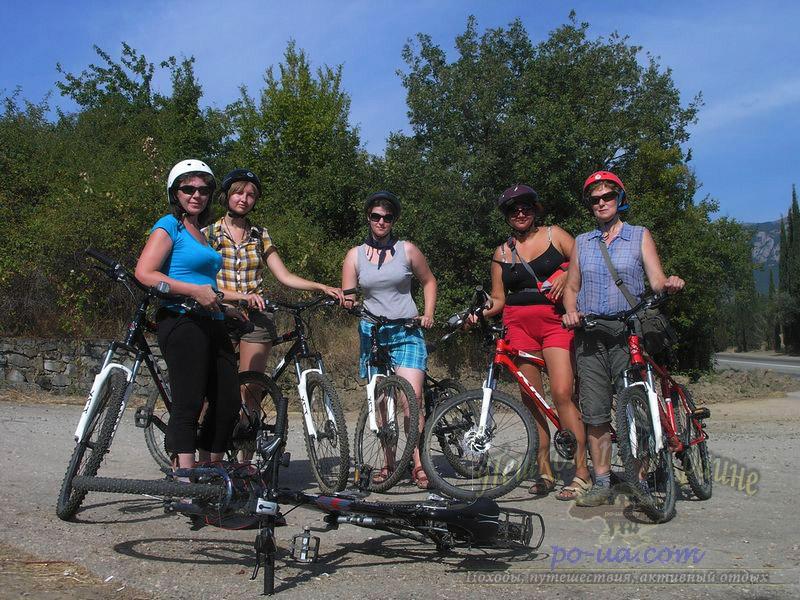 В Крыму на велосипедах