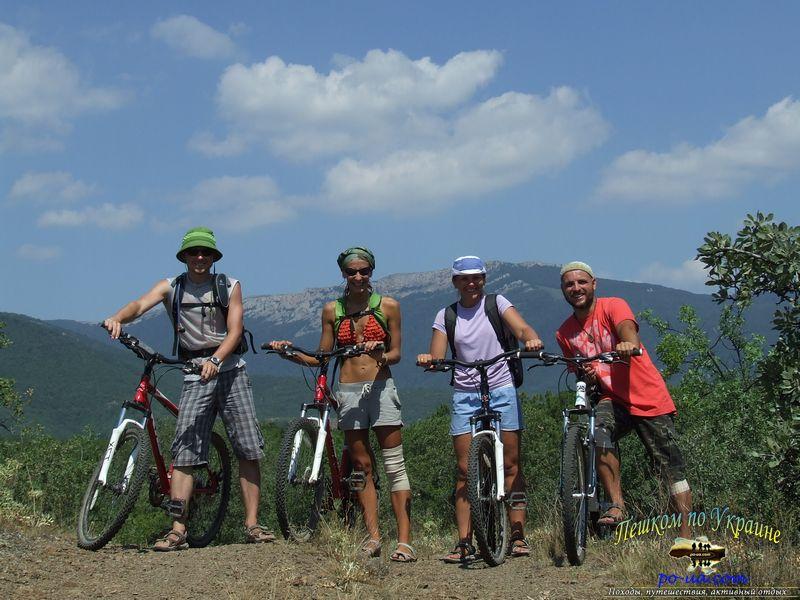 Активны отдых на Черном море, велопоход