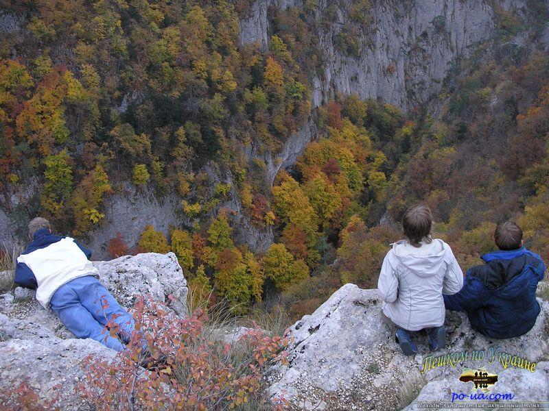 Над Большим каньоном в Крыму