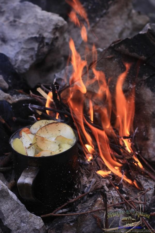 Обед на костре, отдых в Крыму