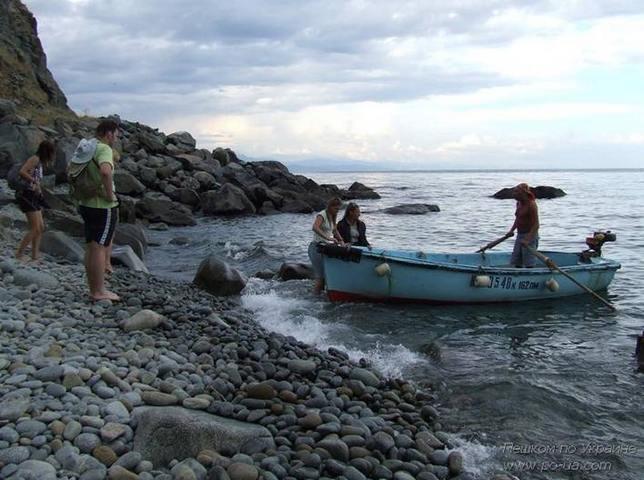 Посадка в лодку