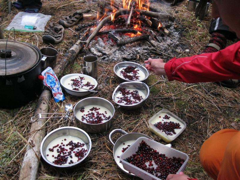 Алтайские ягоды украшают манную кашу