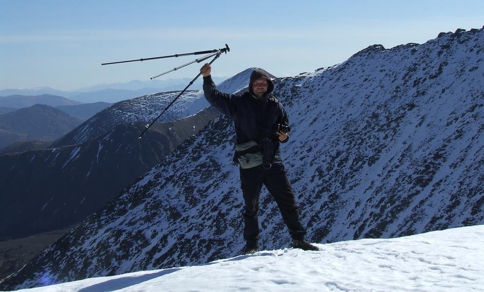 Фотография со штативом на перевале Штатив